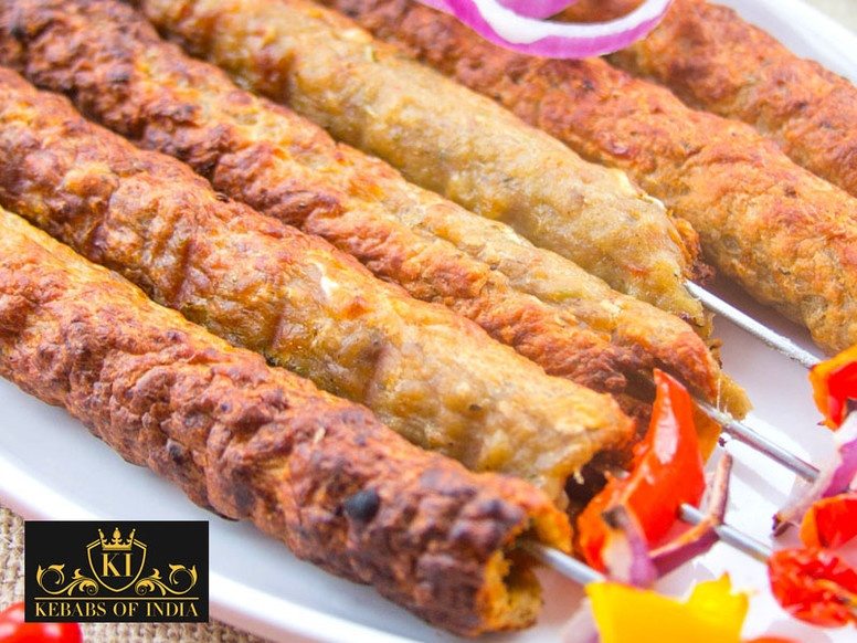 Chicken and Lamb Seekh Kebab by Kebabs of India